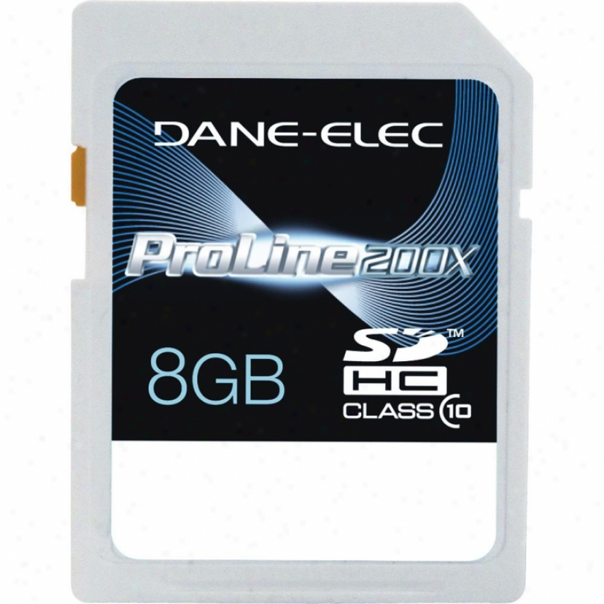 Dane-elec Dasd1008gc Class 10 8gb Sdhc Recollection Card