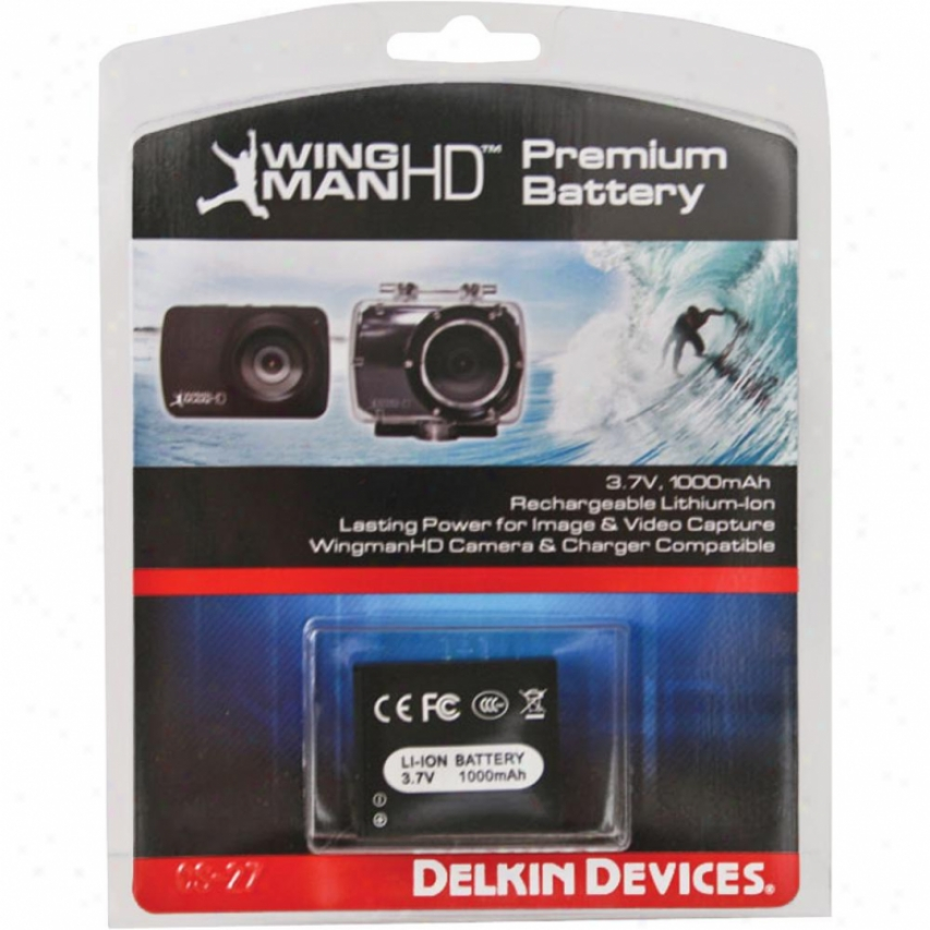 Delkin Devices Replacement Battery For Wingman Hd Waterproof Camcorder