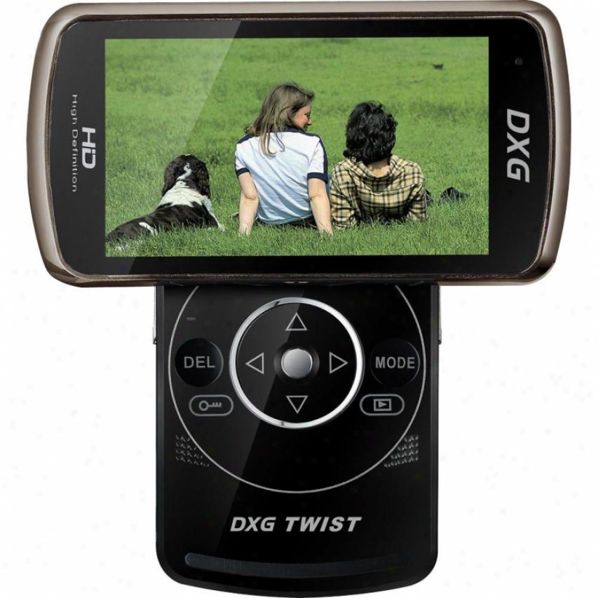 Dxg Usa Dxg Twist 1080p Hd Camcorder - Black 588v