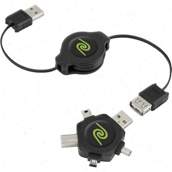 Emerge Technologies Cablestar Retractable Usb Cable