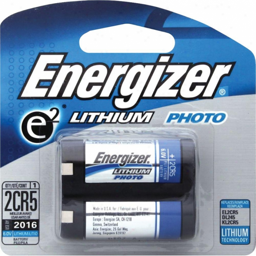 Energizer Lithium Photo Battery 6 Volt El2cr5bp