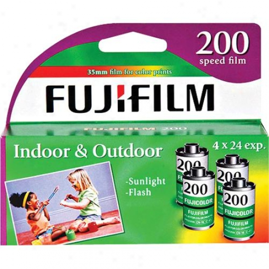 Fuji Thread 4-pack Of Superia Iso 200 35mm Color Film