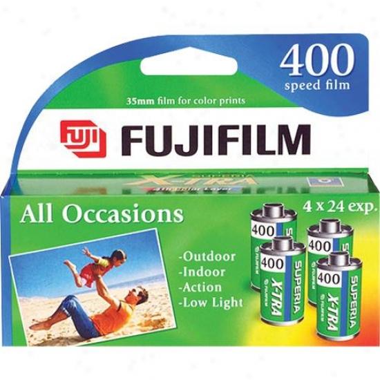 Fuji Film - 4-pack Of Superia Iso 400 Distort 35mm Film
