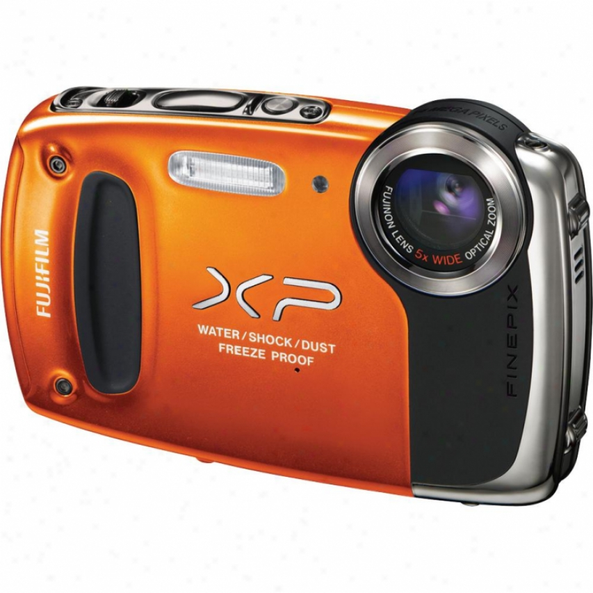 Fuji Film Finepix Xp50 14 Megapixel Waterproof Digital Camera - Orange