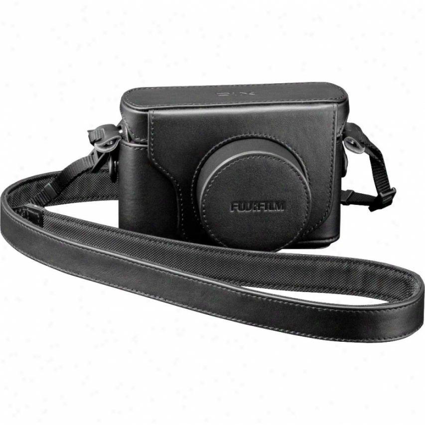 Fuji Film Lc-x10 Leather Retro Casee & Strap For Finepix X10 - Black
