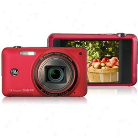 General Electric 14 Megapixel Digital Camera - Red