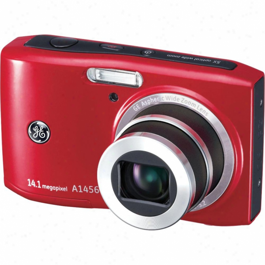 "General Electric 14 Mp Dig Cam 5x 2.7"" Lcd-red"