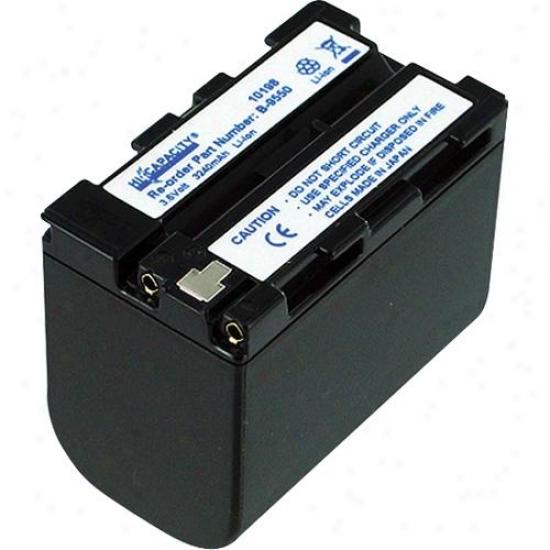 Hi-capacity B-9550 Lithium Ion Camcotder Battery