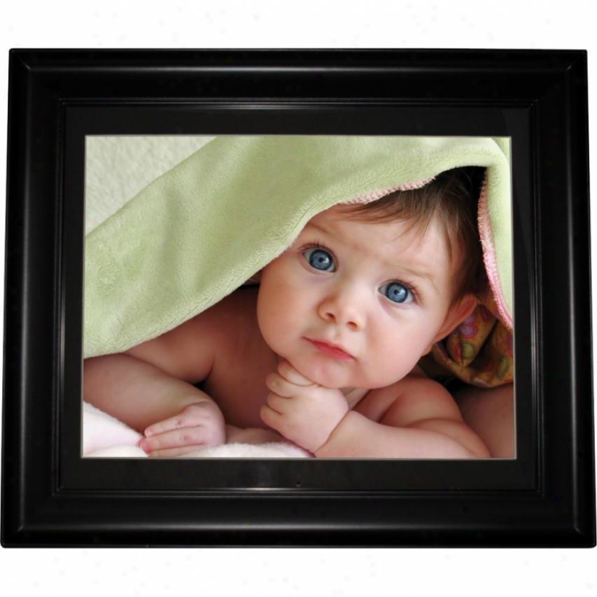 "Impecca 15"" Digital Photo Frame Black Wood Style Dfm1512"