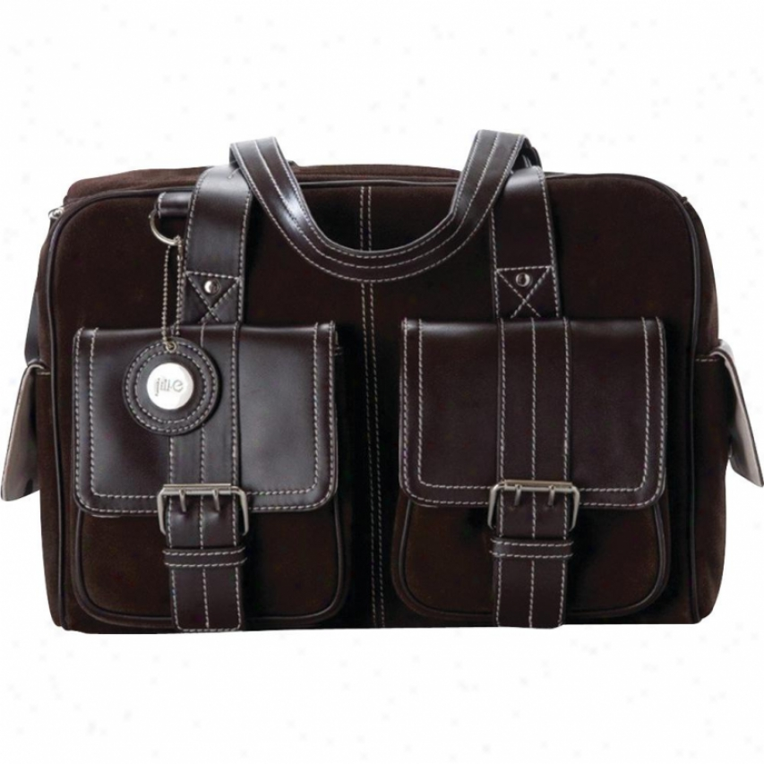 Jill-e Dsigns Medium Chocolate Brown Suede Camera/carry-all Bag - 769404