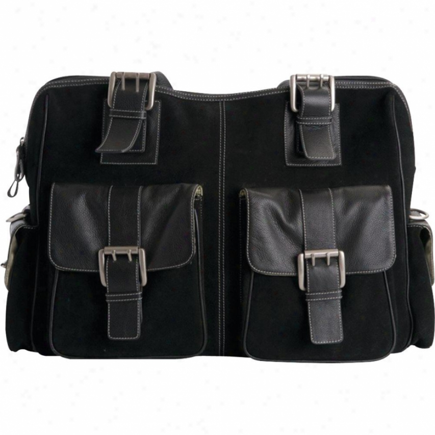 Jill-e Designs Rolling Black Suede Gear Bag - 769398