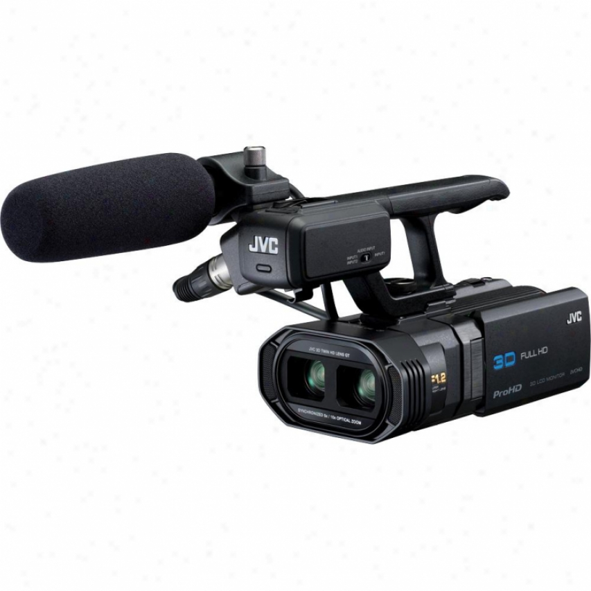 Jvx Gy-hmz1uu 64gb Prohd 3-d Professional Camcorder