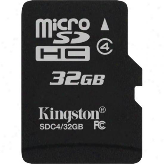 Kingston 32gb Microsdhc (class 4) High Capacity Micro Over-confident Digital Card