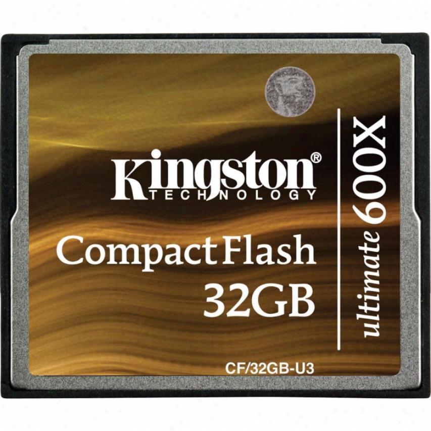 Kingston Cf/32gb-u3 32gb Compact Flash Ultimate 600x