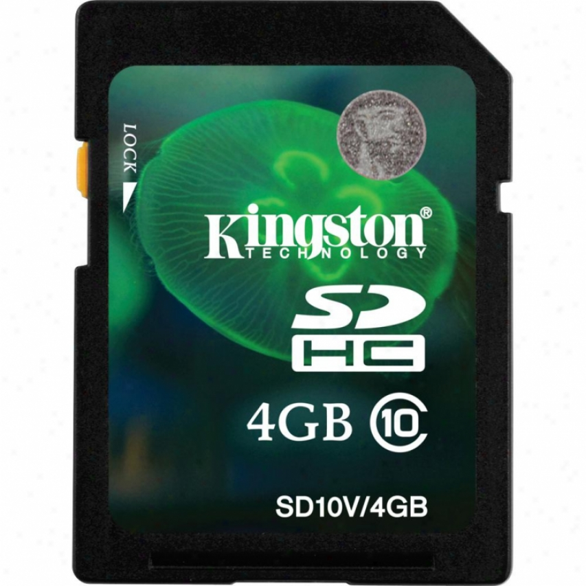 Kingston Sd10v/4gb 4gb Class 10 Sdhc Memory Card