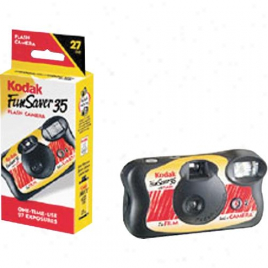 Kodak Fun Saver 27 Camera With Flash One Time Use Camera