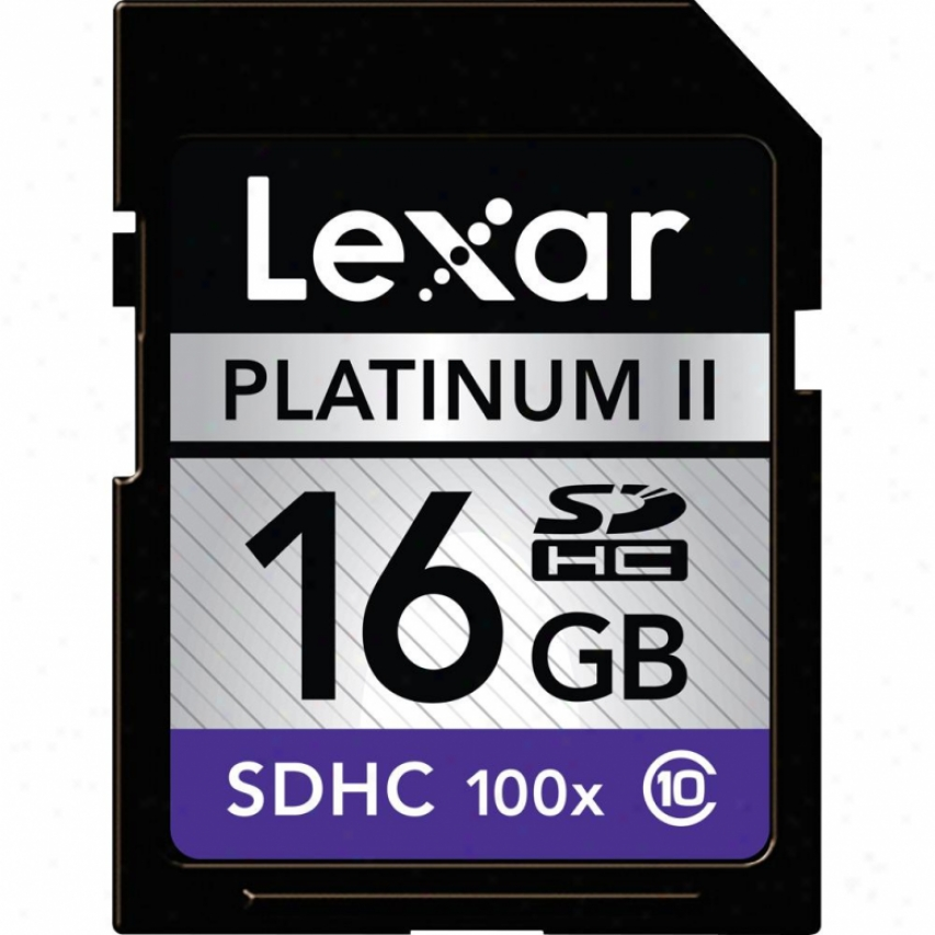 Lexar Media 16gb Platinum Ii 100x Sdhc 2-pack Lsd16gb1002