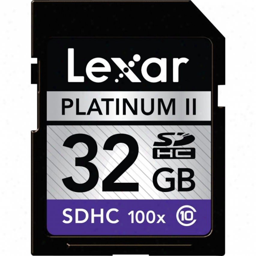 Lexar Media 32gb Platinum Ii 100x Class 10 Sdhc Memory Card