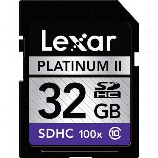 Lexar Media 32gb Platinum Ii 100x Sdhc 2-pacck -lsd32gbb1002