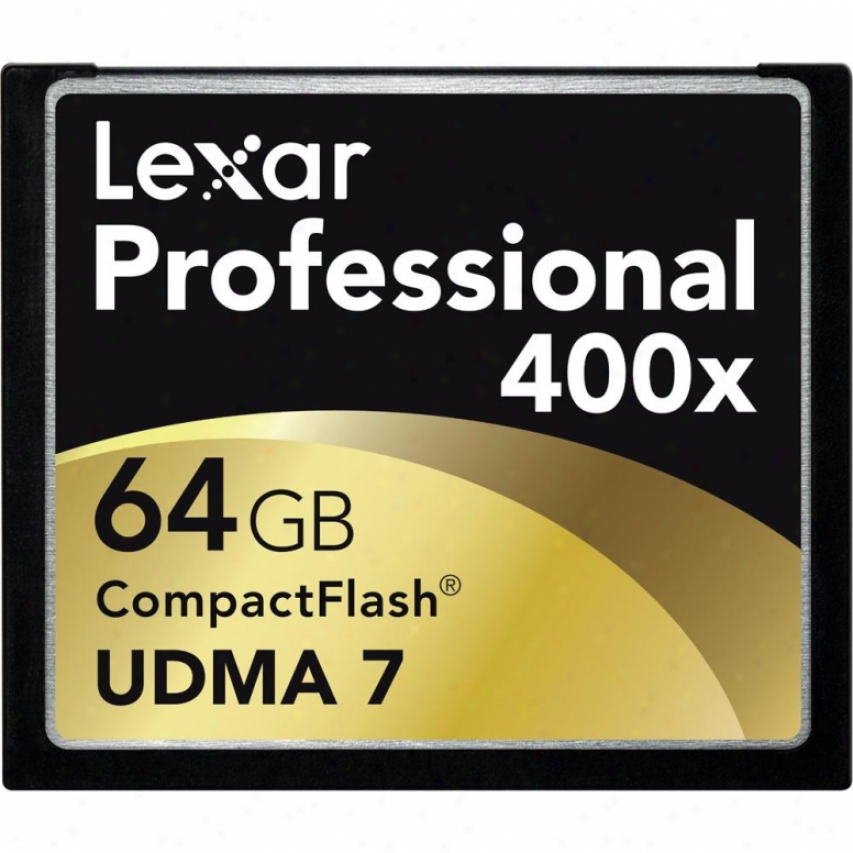 Lexar Media 64gb Professional 400x Compactflash Card - Lcf64gcrbna400