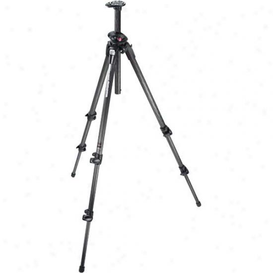 Manfrotto 190cxpro3 190 Mag Fiber Tripod 3 Sct - Black
