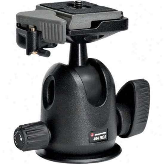 Manfrotto 494rc2 Mini Ball Head With Rc2 For Tripod
