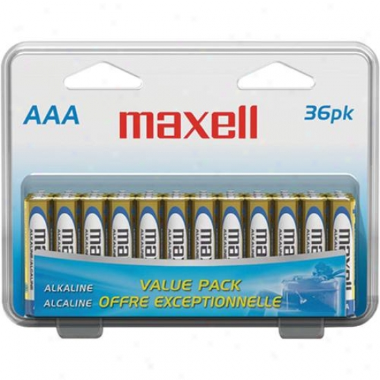 Maxell Aaa/36pk Aaa Alkaline Batteries - 36 Pack