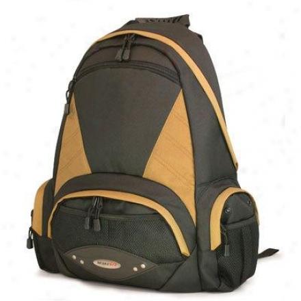 "Mobile Edge 16"" Academic Backpack Bk/gold"