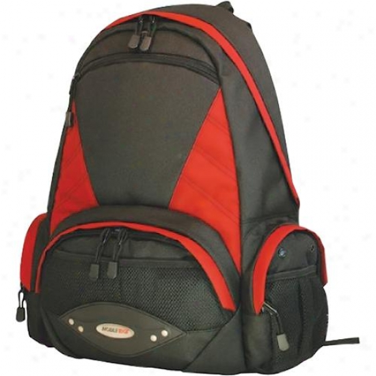 "Mobile Edge 16"" Academic Backpadk Bk/red"