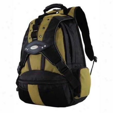 """Mobole Edge 17.3"""" Premium Backpack Ylw/bk"""