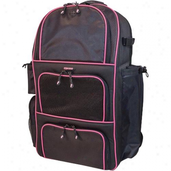 Mobile Move sideways Baseball Backpack-blk/pink
