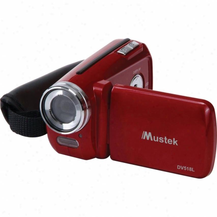 Mustek 6 In 1 Compact Dibtial Camera Dv518l Red