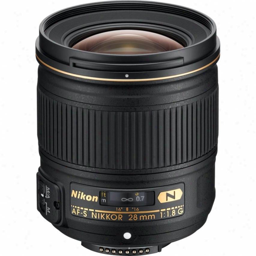 Nikon Af-s Nikkor 28mm F/1.8g Wide-angle Lens