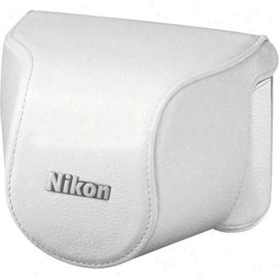 Nikon Cb-n1000sb Leather Body Case Set - White
