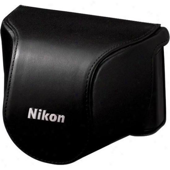 Nikon Cb-n2000sa Black Leather Body Case Set - 3636