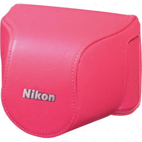 Nikon Cb-n2000sd Leather Body Case Set - Pink