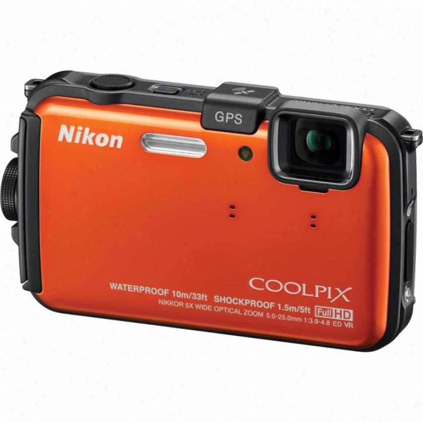 Nikon Coolpix Aw100 16 Megapixel Digital Camera - Orange