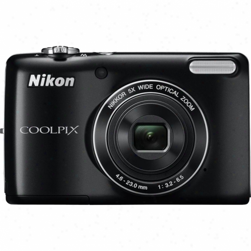 Nikon Coolpxi L26 16 Megapixel Digital Camera - Black