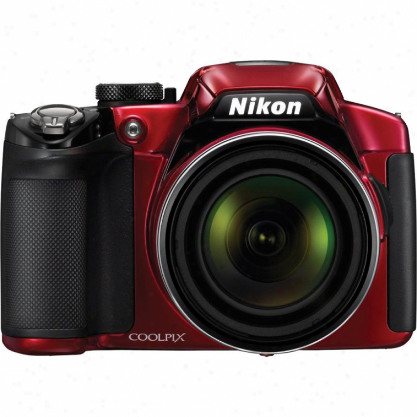 Nikon Coolpix P510 16 Megapixel Digital Camera - Red