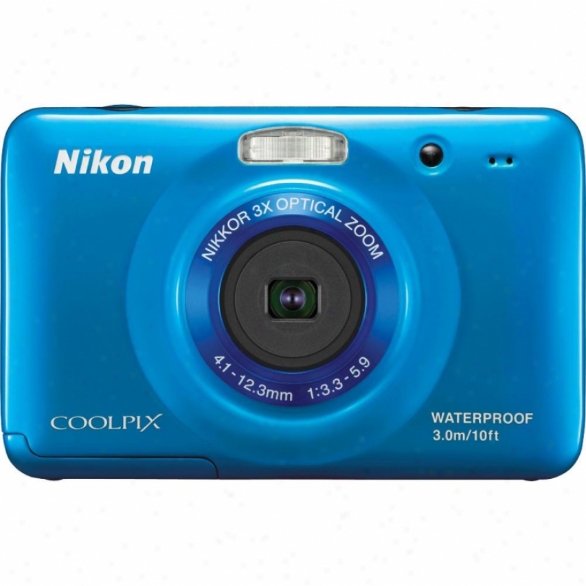 Nikon Coolpix S30 10 Megapixel Waterproof Digital Camera - Blue