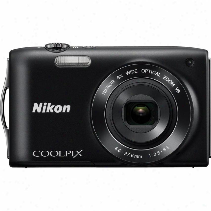 Nikon Coolpix S3300 16 Megapixel Digital Camera - Black