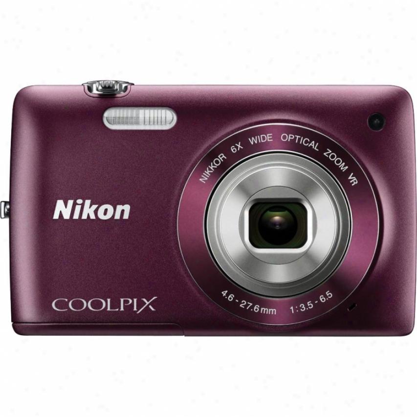 Nikon Coolpix S4300 16 Megapixel Digital Camera - Plum