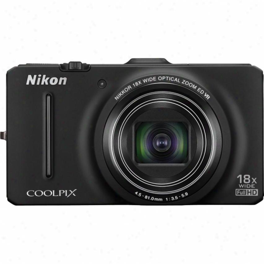 Nikon Coolpix S9300 16 Megapixel Digital Camera - Black