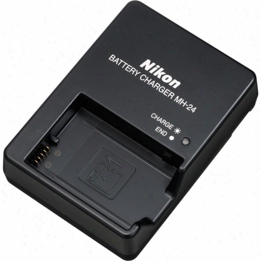 Nikon Mh-24 Quick Charger For En-el14 Li-ion Rechargeable Battery