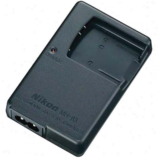 Nikon Mh-63 Battery Charger For En-el10 Rechqrgeable Battery For S200,s500