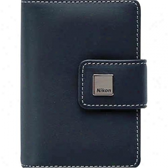Nikon Navy Blue Leather Case For S9