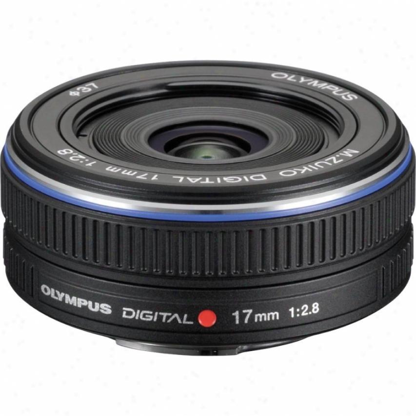 Olympus M-zuiko Digural 17mm F2.8 Lens For Micro Four Thirds Cameras - Black