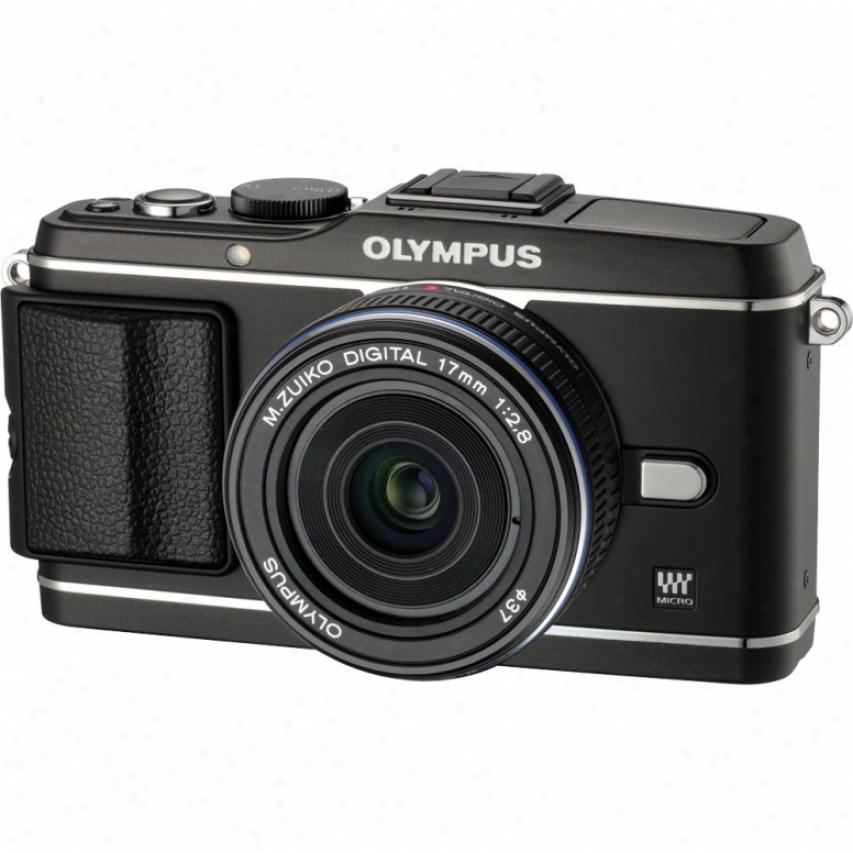 Olympus Pdn E-p3 12 Megapixel Digita1 Camera With Lens Kit - Black