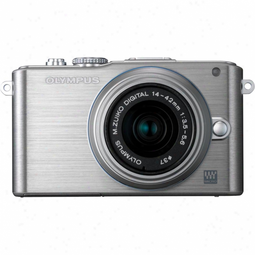 Olympus Pen E-pl3 12 Megapixel Digital Camera With Lens Kit - Silvver