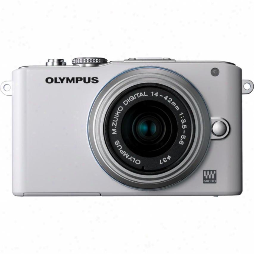 Olympus Pen E-pl3 12 Megapixel Digital Camera With Lens Kit - White